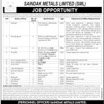 Saindak Metals Limited SML Jobs CTSP Answer Keys Result