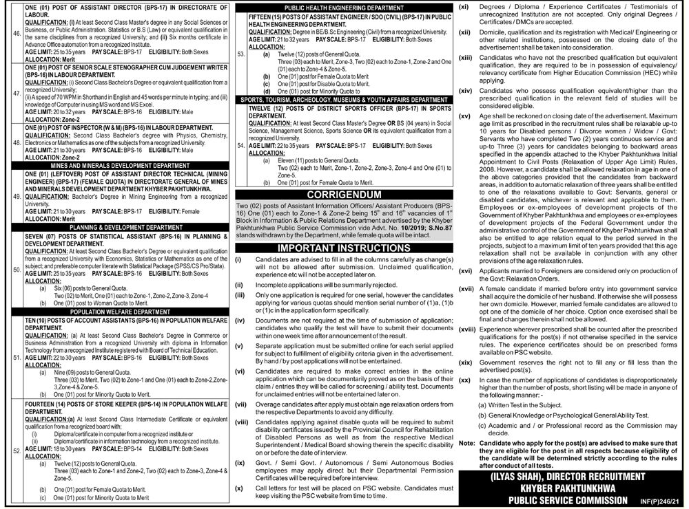 Medical Officer District Specialist Anaesthesia Jobs KPPSC Roll No Slip