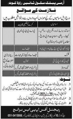 Army Public School APS School Jobs Rawalakot