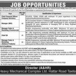 Heavy Mechanical Complex HMC Jobs Taxila
