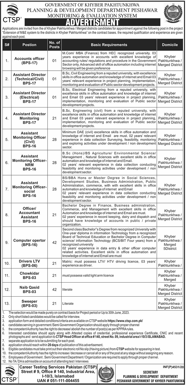 Monitoring Evaluation System KPK PDD Jobs CTSP Result Answer Keys