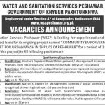 Water and Sanitation Services Peshawar WSSP Jobs ETEA Roll No Slip Community Empowerment & Capacity Building Budget for Urban Wash in Shrucs of Peshawar