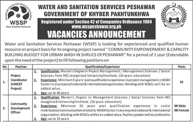 Water and Sanitation Services Peshawar WSSP Jobs ETEA Roll No Slip