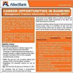 ABL Allied Bank Management Trainee Officer Jobs Interview Schedule Merit List