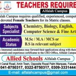 Allied School Alfalah Campus Faisalabad Jobs 2021