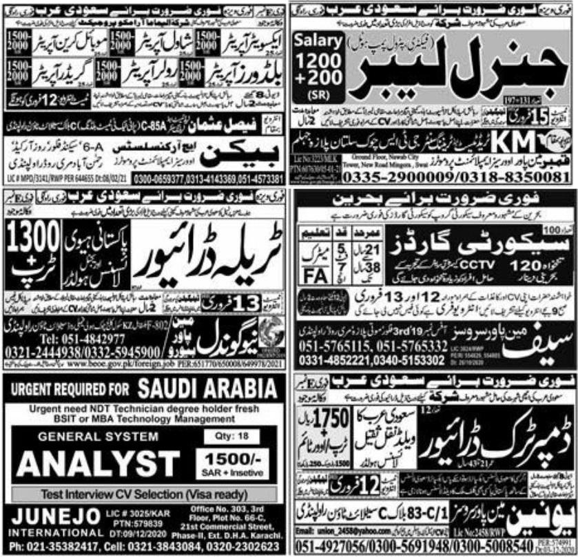 Today Express Newspaper Jobs