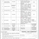 Federal Land Commission Islamabad Jobs 2021 Test Date Short Listed List Interview Schedule