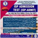 ISP Multan Institute of Southern Punjab MS MPhil Admission NTS Result Merit List
