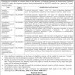 Ministry of Federal Education and Professional Training MOFEPT Jobs 2021