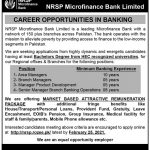 Govt Jobs Pakistan Today NRSP Microfinance Bank Jobs 2021