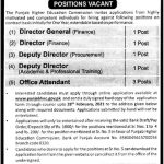 Lahore latest government Jobs 2021 Punjab Higher Education Commission