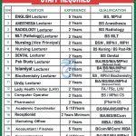 GIMS Peshawar Jobs Interview Schedule Merit List Ghazali Institute of Medical Sciences