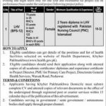 Health Department KPK LHV Jobs Interview Schedule Merit List
