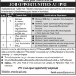 Today jobs in Islamabad IPRI The Islamabad Policy Research Institute