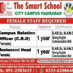 Today government Jobs Pakistan Latest – The Smart School City Campus Faqirabad Peshawar Jobs 2021