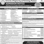 UET Peshawar Admissions MS PhD Spring 2021 ETEA Result Merit List GAT-General & GAT-Subject