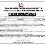 SMBBIT Karachi Ward Boy Jobs CTS Result Shaeed Mohtarma Benazir Bhutto Institute Of Trauma