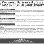 Women University Swabi WUS Jobs Today KPK Govt Jobs 2021