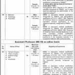 Nishtar Medical University Multan Jobs Interview Schedule Merit List
