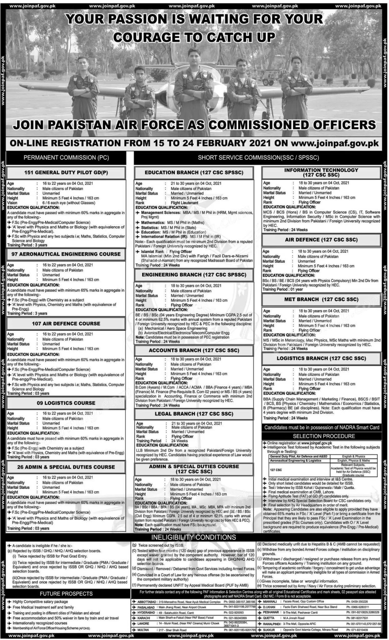 PAF Pakistan Air Force Commission Officer Call Letter