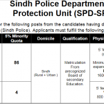 Sindh Police Lady Constables Jobs SPD SPU 459 PTS Roll No Slip & Physical Test Roll No Slip Lady Constables Special Protection Unit