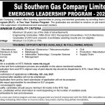 SSGC Emerging Leaders Two Year Trainee Program NTS Roll No Slip Sui Southern Gas Company Limited