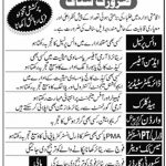 Cadet College Sialkot Jobs Today latest jobs in Punjab 2021