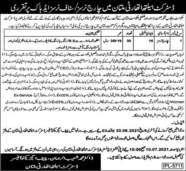 District Health Authority Multan 2021 Jobs