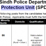 Sindh Police Police Constable Jobs SPD SPU 459 PTS Roll No Slip & Physical Test Roll No Slip Police Constable