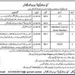 Govt Jobs 2021 Pakistan Today Cadet College Choa Saidan Shah Chakwal