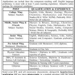 Army Public School and College COD Karachi Jobs Interview Schedule Merit List