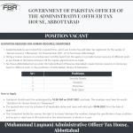 Federal Board of Revenue Jobs FBR Jobs Abbottabad Latest Govt Jobs Pakistan