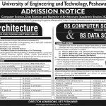 UET Peshawar Bachelor of Architecture BS Admission ETEA Slip