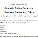 Graduate Trainee Leading Manufacturing Group NTS Result 8th August, 2021