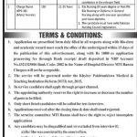 Latest Govt Jobs in KPK At Medical Teaching Institution MTI Bannu