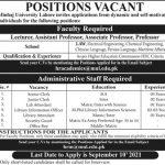Govt Teaching Jobs in Lahore 2021 At Minhaj University Lahore