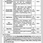 Today Government Jobs in Karachi At SMBBIT Shaheed Mohtarma Benazir Bhutto Institute of Trauma