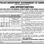 Sindh Police Jobs Government Jobs For Matric Pass in Karachi 2021