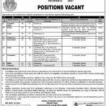 Sindh Government Jobs All Department Registrar Cooperative Societies Hyderabad & Cadet College Khairpur Sindh