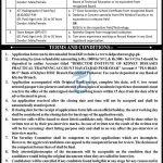 Govt Jobs in Peshawar Today 2021 At IKD Institute of Kidney Diseases