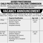 Child Protection and Welfare Commission KPK Jobs ETEA Result 19/09/2021