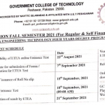 GCT Peshawar BSc Engineering Technology Admission ETEA Slip Government Colleges of Technology