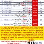 PEF Post Graduate College Peshawar Scholarship Test NTS Result Merit List