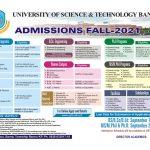 UST BANNU Admission 2021 ETEA Roll No Slip BSc Engineering PhD Programs MS Mphil BS