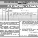 Government Jobs in Karachi 2021 for Matric SESSI Sindh Employees Social Security Institution