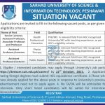 Local Government KPK Jobs At Sarhad University Peshawar & PO Box No 111 Peshawar
