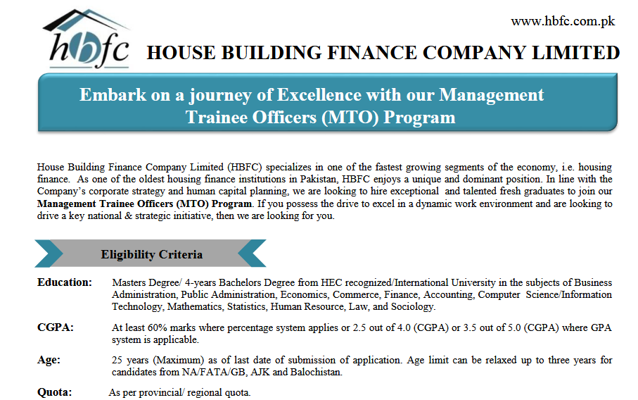 HBFC Management Trainee Officer NTS Test Result