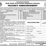Government Jobs in Karachi for Matric At SPPRA Sindh Public Procurement Regulatory Authority